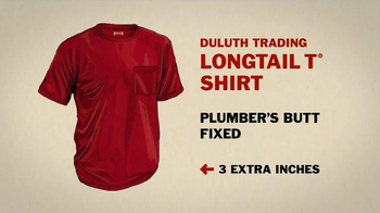 Duluth Trading Company LongTail T Shirt TV Spot, 'How to Un-Plumber a Butt' - Thumbnail 7