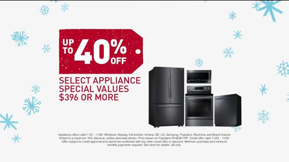 Lowe S Black Friday Deals Tv Commercial Appliances And Special Financing Ispot Tv