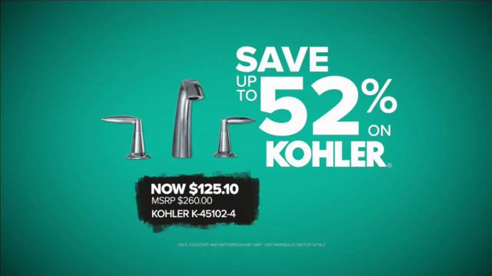 Build.com TV Commercial, \'Black Friday Deals: Kohler Faucets\' - iSpot.tv