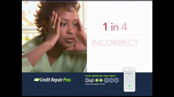 Credit Repair Pros TV Spot, 'Address Unfairly Reported Items' - Thumbnail 3