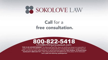 Sokolove Law TV Spot, 'Medical Alert: Birth Injuries' - Thumbnail 5