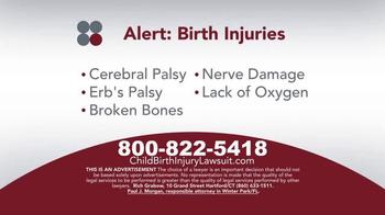 Sokolove Law TV Spot, 'Medical Alert: Birth Injuries' - Thumbnail 3
