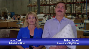 My Pillow TV Spot, 'Welcome to the Factory' Featuring Jann Carl - Thumbnail 1