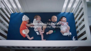 NFL TV Spot, 'Football Is Family: Super Bowl 50 Baby Shower' - 1046 commercial airings