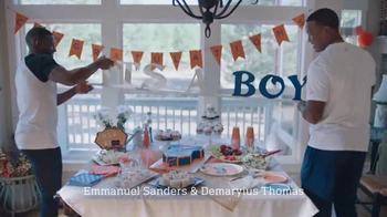 NFL TV Spot, 'Football Is Family: Super Bowl 50 Baby Shower' - Thumbnail 3