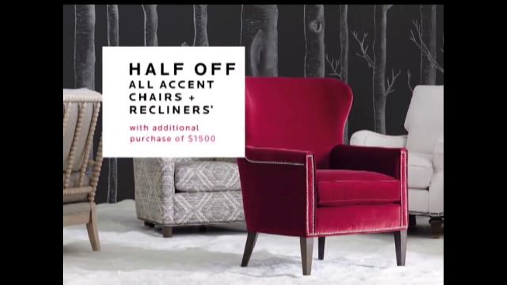 bassett black friday weekend sale tv commercial accent chairs