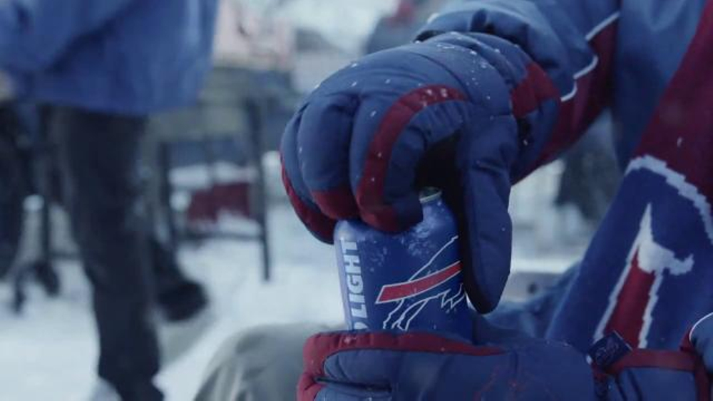 Bud light tv commercial gloves ispot mozeypictures Choice Image