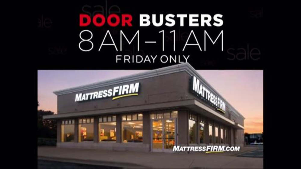 Mattress Firm Thanksavings Sale Tv Commercial Black