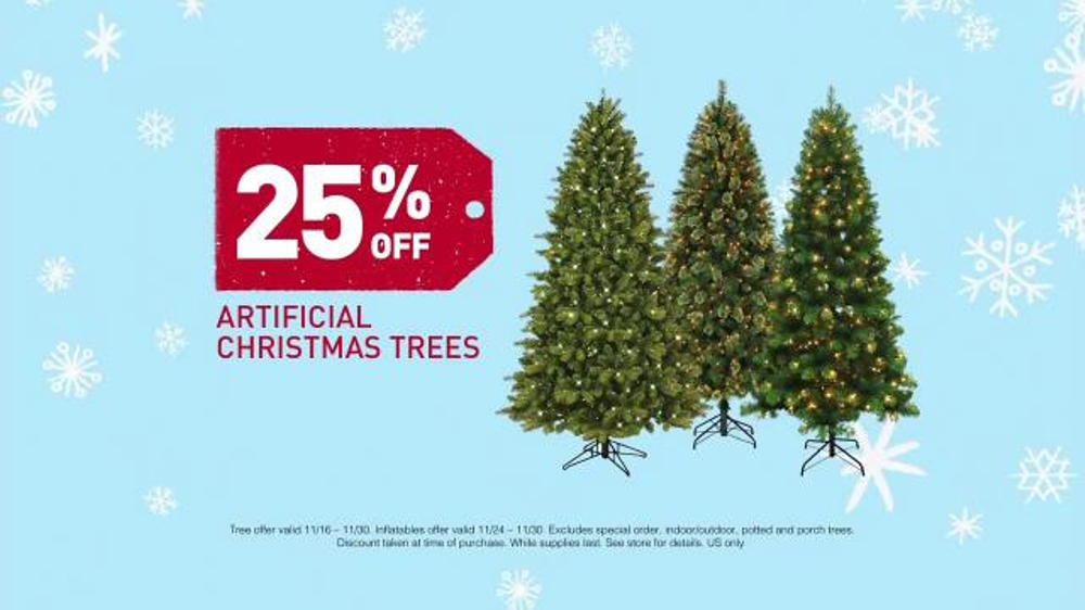 lowes black friday deals tv commercial christmas trees inflatables ispottv - Black Friday Deals On Christmas Trees