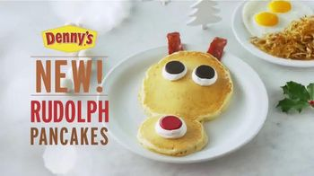 Denny's Rudolph Pancakes TV Spot, 'Here for the Holidays'
