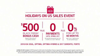 Kia Holidays on Us Sales Event TV Spot, 'Optima & Sorento: Black Friday' - Thumbnail 4