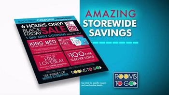 Rooms to Go Black Friday Sale TV Spot, 'Doorbuster Coupons'