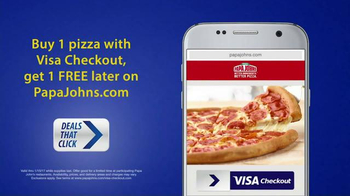 VISA Checkout TV Spot, 'Deals That Click: Free Pizza' - Thumbnail 1