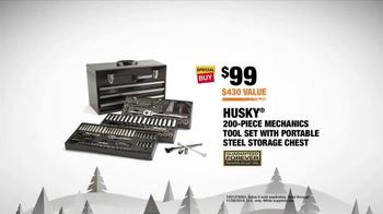 The Home Depot Black Friday Savings TV Spot, 'Husky Tool Set' - Thumbnail 9
