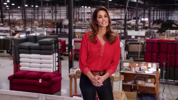 Rooms to Go Cindy Crawford Home TV Spot, 'Factory' Featuring Cindy Crawford - 10 commercial airings
