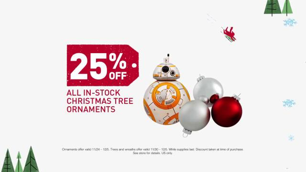 lowes tv commercial ornaments and artificial christmas trees ispottv - Lowes Christmas Ornaments