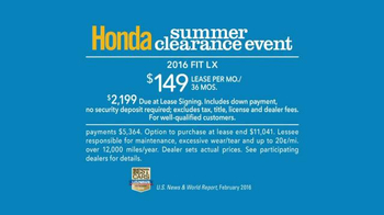 Honda Summer Clearance Event TV Spot, 'Float' - Thumbnail 10