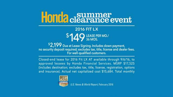 Honda Summer Clearance Event TV Spot, 'Float' - Thumbnail 9