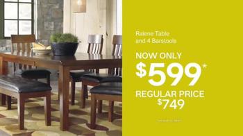 Ashley Furniture Homestore Sale & Clearance Event TV Spot, 'Dining Set'