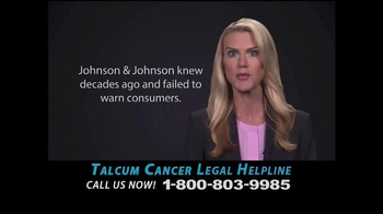 Weitz and Luxenberg TV Spot, \'Talcum Cancer Legal Helpline\'