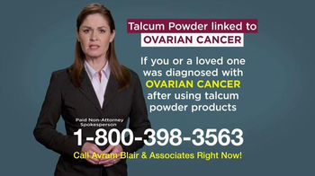 Avram Blair & Associates TV Spot, 'Talcum Powder'