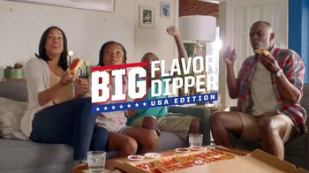 Pizza Hut Big Flavor Dipper USA Edition TV Spot, 'Eat and Compete'