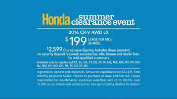 Honda Summer Clearance Event TV Spot, 'Incredible Deals' - Thumbnail 10
