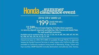 Honda Summer Clearance Event TV Spot, 'Incredible Deals' - Thumbnail 9