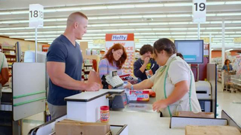 Hefty Ultra Strong Clean Burst TV Spot, 'Pec Flex' Featuring John Cena - Thumbnail 1