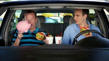 Sonic Drive-In TV Half Price Cheeseburgers TV Spot, 'Piggy Bank' - 993 commercial airings
