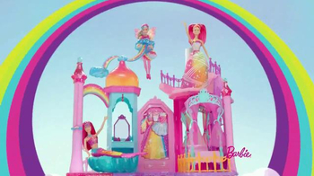 Barbie Rainbow Cove Princess Castle Playset: Let's Explore thumbnail