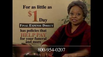 Final Expense Direct TV Spot, 'Financial Burden' - Thumbnail 5