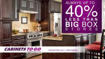 Cabinets To Go Get Ready for the Holiday Sale TV Spot, 'Top Quality' - Thumbnail 5