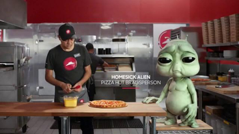 Pizza Hut Grilled Cheese Stuffed Crust Pizza TV Spot, 'Homesick Alien'
