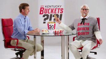 KFC $20 Fill Up TV Spot, 'Kentucky Buckets' Ft. Rob Riggle, Cooper Manning