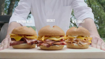 Arby's Smokehouse Sandwiches TV Spot, 'Maybe Eat Slower' Song by YOGI - Thumbnail 6