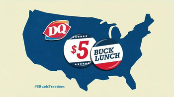 Dairy Queen $5 Buck Lunch TV Spot, 'Let $5 Buck Freedom Ring'