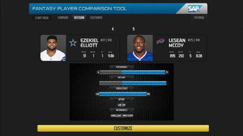 SAP Player Comparison Tool TV Spot, 'NFL Top Fantasy Defense' - Thumbnail 9
