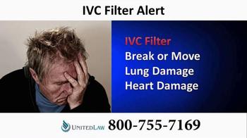 United Law TV Spot, 'IVC Filter Alert'