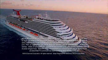 Carnival Oh Ship! Sweepstakes TV Spot, 'Watch Ellen' - Thumbnail 1