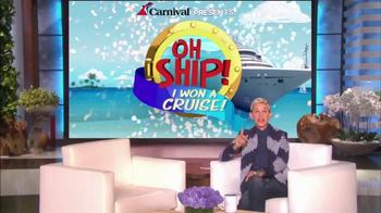 Carnival Oh Ship! Sweepstakes TV Spot, 'Watch Ellen' - Thumbnail 10