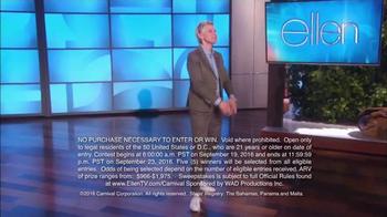 Carnival Oh Ship! Sweepstakes TV Spot, 'Watch Ellen' - Thumbnail 3