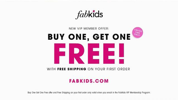 FabKids.com Buy One, Get One Free TV Spot, 'Fashionable' - Thumbnail 8