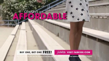 FabKids.com Buy One, Get One Free TV Spot, 'Fashionable' - Thumbnail 5