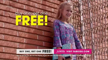 FabKids.com Buy One, Get One Free TV Spot, 'Fashionable' - Thumbnail 6