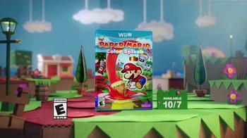 Paper Mario: Color Splash TV Spot, 'Paint the Town' - Thumbnail 8