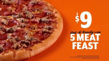 Little Caesars Pizza HOT-N-READY 5-Meat Feast TV Spot, 'Drummer' - Thumbnail 8