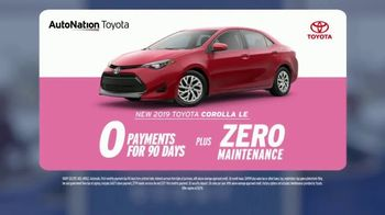 AutoNation Super Zero Event TV Spot, '2019 Toyota Corolla LE' - Thumbnail 2