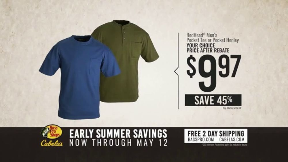 2b548bb5 Bass Pro Shops Early Summer Savings TV Commercial, 'Pocket Tees and Ascend  Pack'