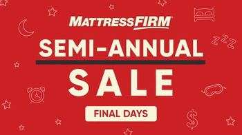 Mattress Firm Semi-Annual Sale TV Spot, 'Top-Rated Mattresses' - Thumbnail 1